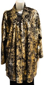 Caroline Rose Hand Painted Look Versatile Layer Top Black & gold