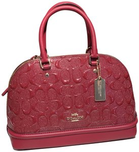 Coach Satchel in cherry
