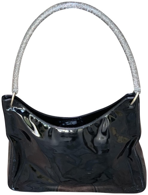 Item - Lucite Black Patent Leather Hobo Bag
