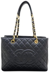 Chanel Gst Shopping Tote Caviar Shoulder Bag