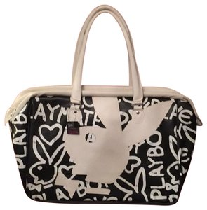 Playboy black white Travel Bag