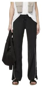 Lululemon NWT Lululemon Size 10 On The Right Track Pant BLK/WHT Black White $118