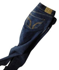 Hollister Embroidered Embellished Skinny Jeans-Distressed