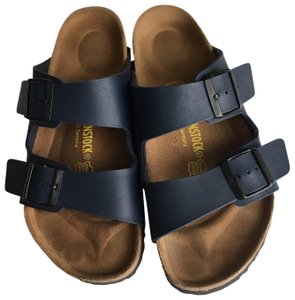Blue Birkenstock Sandals Up to 90% off at Tradesy