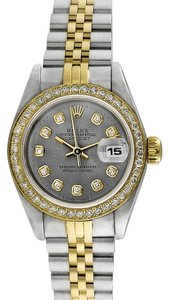 Rolex Rolex Ladies Automatic Datejust Custom diamond Slate Dial