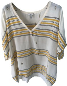 Joie Top ivory/yellow