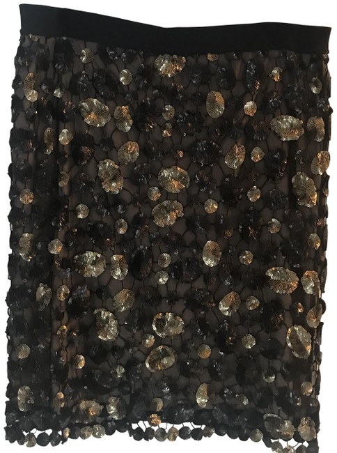 Item - Black Gold Natural Bcbg Evening Skirt Size 8 (M, 29, 30)