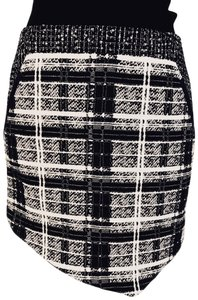 Marissa Webb Mini Skirt Black, White, Grey Print