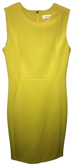Item - Lemon/Lime Coloring. Not Neon. Mid-length Cocktail Dress Size 8 (M)