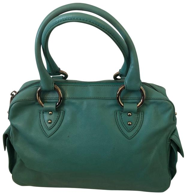 Item - Pocket Teal with Silver Hardware Leather Suede Interior Satchel