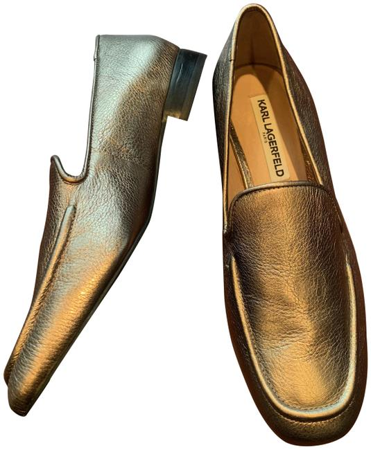 Item - Gold New Metallic Loafers Flats Size US 8 Regular (M, B)