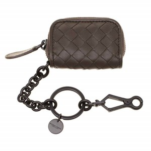 Bottega Veneta Taupe Intrecciato Leather Key Ring Bag Charm