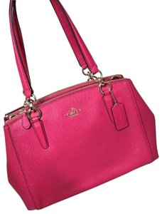 Coach Satchel in bright pink