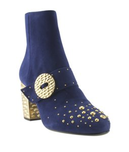 Prada Ankle Suede Blue Boots
