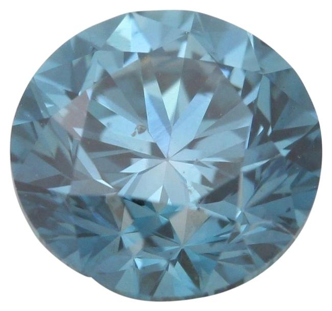 Item - Blue Round Loose Diamond 0.97 Ct Irradiated Vs2 Clarity Igl C6003238