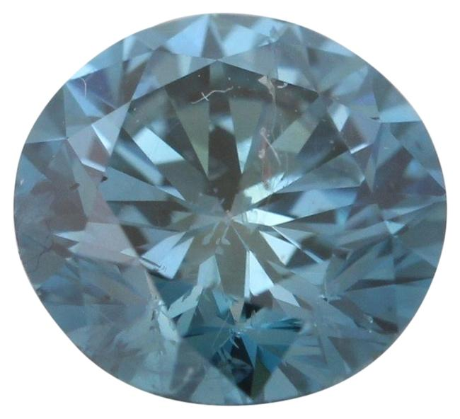 Item - Blue Round Loose Diamond 1.01 Ct Irradiated Vs2 Clarity Igl C6003242
