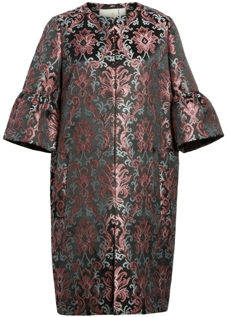 Item - Black/Pink/Blue Finer Things Multi-color (974) Tapestry Jacquard (6) Coat Size 6 (S)