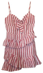 The Impeccable Pig short dress red/white on Tradesy