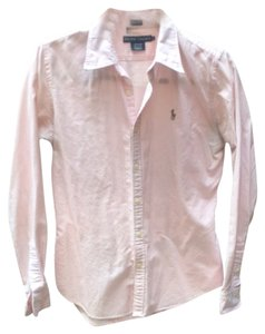 Ralph Lauren Button Down Shirt pink and white