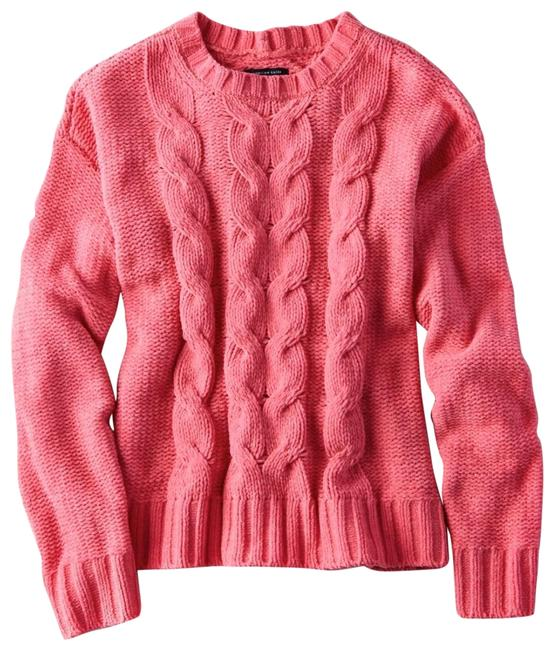 Item - Impossibly Soft Chunky Cable Knit Pink Sweater