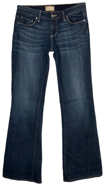 Item - Blue Dark Rinse Low Stretch Canyon Boot Cut Jeans Size 4 (S, 27)