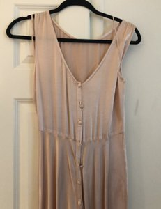 Ghost Oyster Or Champagne/ Pale Pink Viscose Alexia Bhldn Anthropologie Never Worn Never Tailored Feminine Bridesmaid/Mob Dress Size 4 (S)