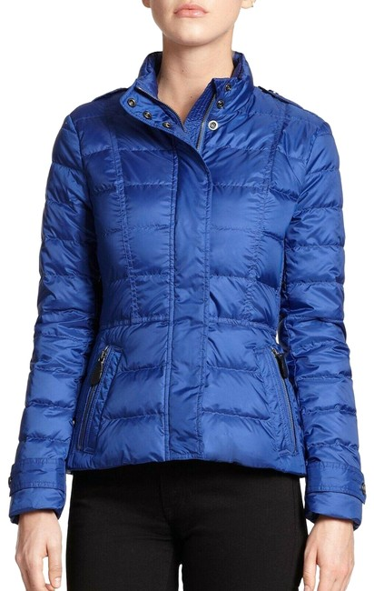 Item - Blue Dalesbury Sapphire Quilted Check Down Coat Jacket Size 4 (S)