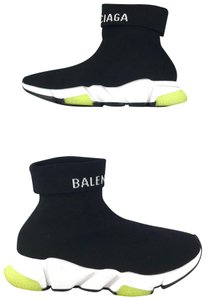 Balenciaga Folded Speed Sock Sneakers Men's Black Athletic