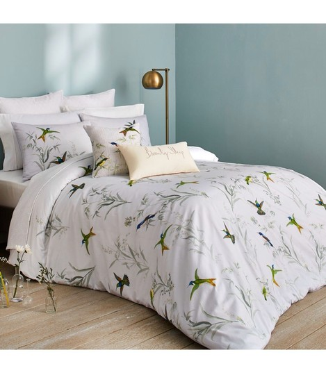 Ted Baker White/Green Fortune King Duvet Cover and Two King Shams. Other Image 3