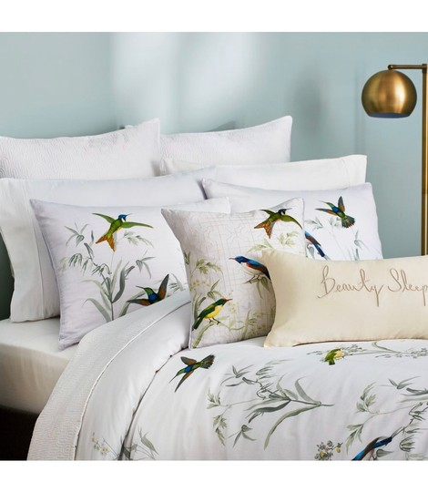 Ted Baker White/Green Fortune King Duvet Cover and Two King Shams. Other Image 4