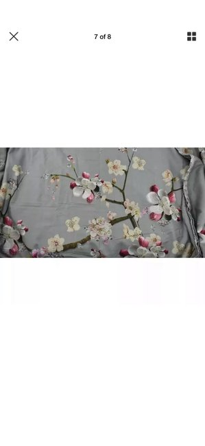 Ted Baker Gray/Pink New London Flight Of The Orient King Duvet Cover & Shams Other Ted Baker Gray/Pink New London Flight Of The Orient King Duvet Cover & Shams Other Image 6