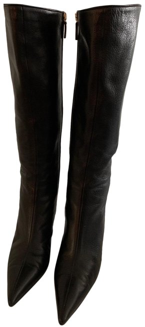 Item - Black Heel Over The Knee Boots/Booties Size US 8.5 Regular (M, B)