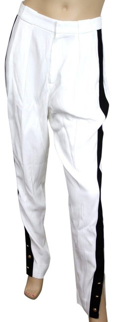 Item - White W W/Black Stripe Gold 42 293859 Pants Size 8 (M, 29, 30)