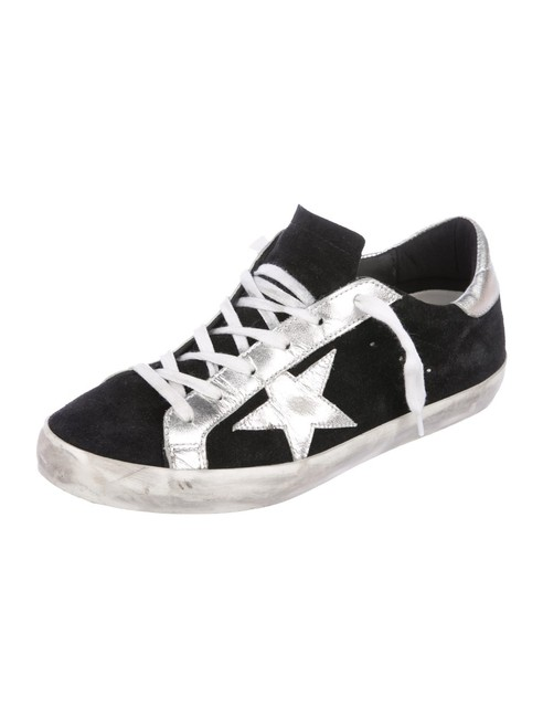 Golden Goose Deluxe Brand Black and Silver Superstar Sneakers Size EU 38 (Approx. US 8) Wide (C, D) Golden Goose Deluxe Brand Black and Silver Superstar Sneakers Size EU 38 (Approx. US 8) Wide (C, D) Image 1