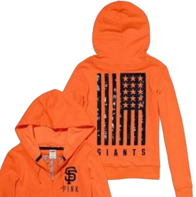 Item - Orange and Black Sf Giants Activewear Outerwear Size 8 (M)