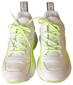 Stella McCartney white and neon yellow Athletic