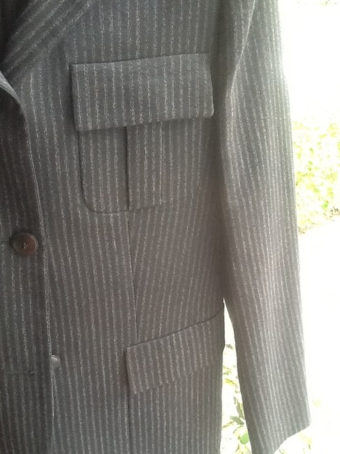Max Mara Vintage Tailored Wool & Sexy Used In Italian Film Charcoal Gray Jacket