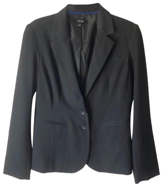 Item - Charcoal Fitted Double Button Blazer Size 8 (M)