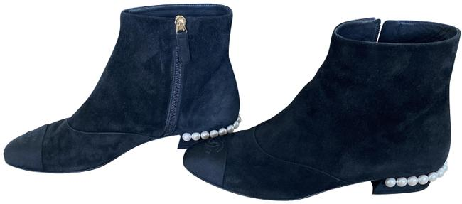 Item - Black Suede Calfskin Boots/Booties Size EU 37.5 (Approx. US 7.5) Wide (C, D)