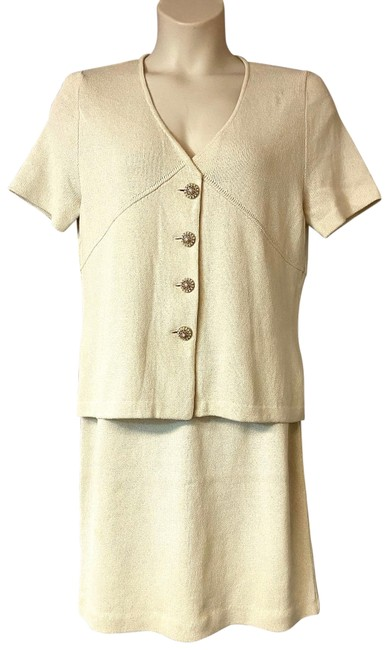 Item - Cream Collection Skirt Suit Size 14 (L)