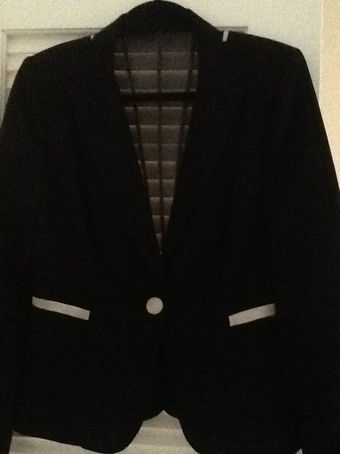Kay Unger See Through Elegantissima Totally Unique Used In Film Shoot Black with white details Jacket