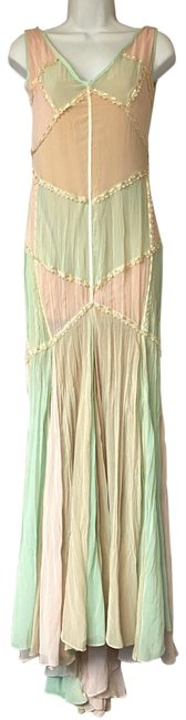 Item - Multicolor Panel Sleeveless Poly S Long Casual Maxi Dress Size 4 (S)