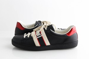 Gucci Black Ace Stripe Sneakers Shoes