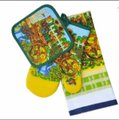 Cozy mitts Cotton Oven Mitt, Pot Holder And Towel Set cozy mitts