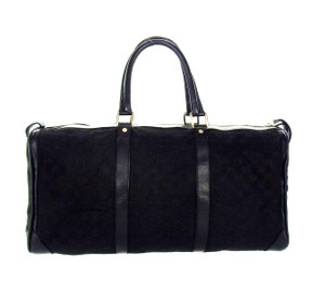 Gucci Keepall Duffle Shoulder Black Travel Bag