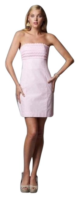 Item - Pink and White 92108 Short Casual Dress Size 4 (S)