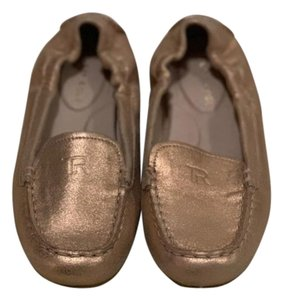 Taryn Rose Leather Rose Gold Flats