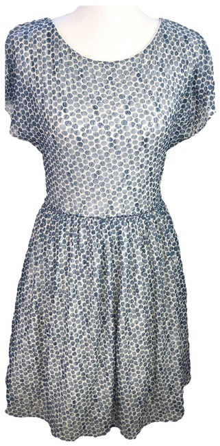 Item - Blue Weston Wear Frothed Dots Short Casual Dress Size 4 (S)