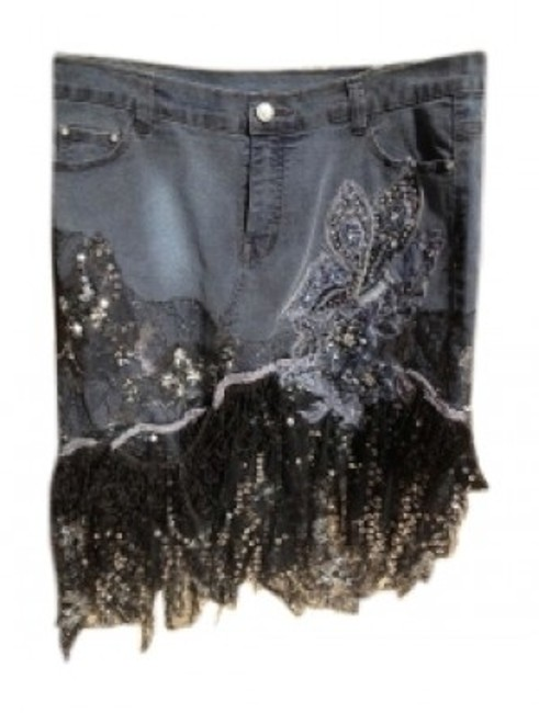 Preload https://item2.tradesy.com/images/black-cat-blue-demin-and-jean-knee-length-skirt-size-12-l-32-33-26736-0-0.jpg?width=400&height=650