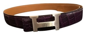Hermes Rare Purple Crocodile Hermes Belt